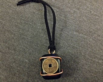 Wire-Wrapped Onyx Pendant