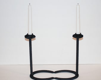 Handcrafted Double Horseshoe Western Decor Candle Holder Limited Edition