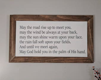 Irish Blessing Wood Framed Canvas