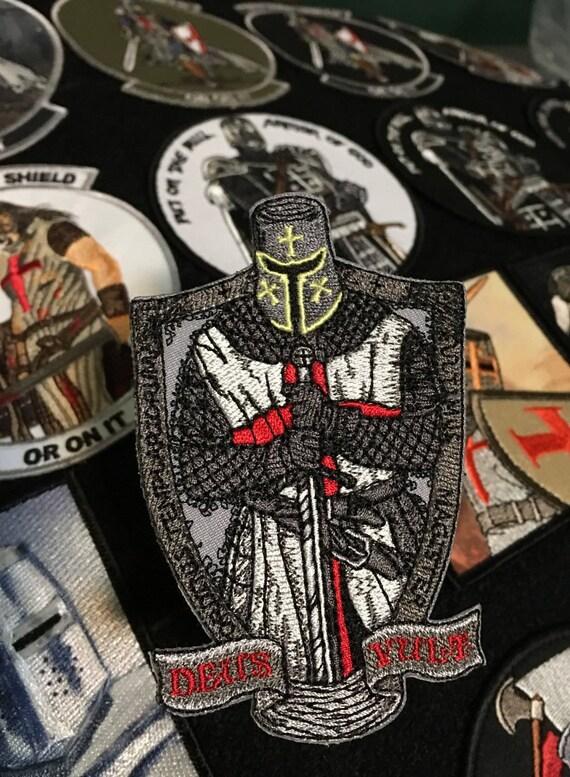 Deus Vult Morale Patch Sword Templar Cross Shield God Wills It
