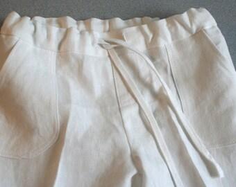 Boy - Linen - Off white beach pants