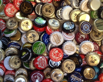 Lot of 50 Assorted Used Beer and Soda Caps