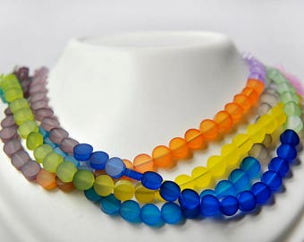 Multicolor acrylic necklace, can be worn different ways, lightness