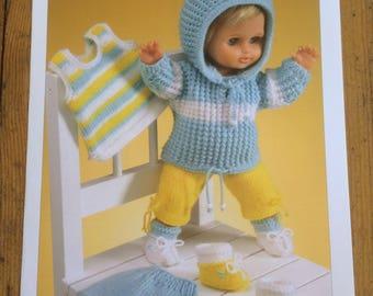 Sirdar Doll Double Knit Knitting Pattern 3122