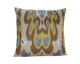 Ikat Pillow, Handmade Ikat Pillow Cover  IP127 (S201), Ikat throw pillows, Designer pillows, Decorative pillows, Accent pillows