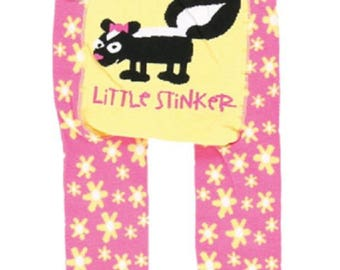 Little Stinker Skunk Infant Pink Leggings