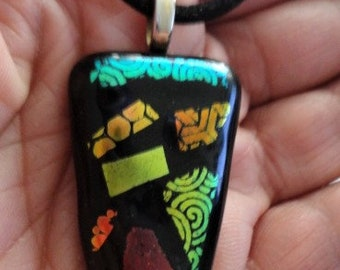 Fused Glass Pendant (One of a Kind)