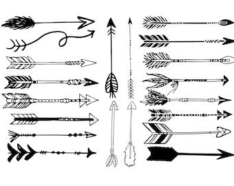 Arrow Svg, Arrow Clipart, Arrow Silhouette, Arrow Svg File, Arrow Digital Cutting File, Arrow Svg Bundle, Arrow Svg Cut Buy 2 Get 1 FREE