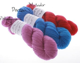 Semisolid Colorways for Your Favorite Knits - Hand dyed Yarn PERSIAN set of 3 or 1 skein