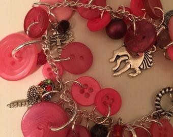Rainbows and Butterflies charm bracelet