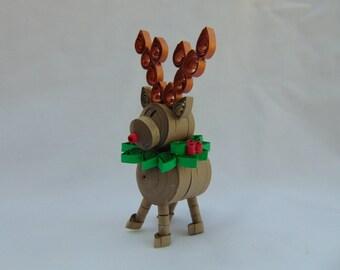 3D Quilled Reindeer Ornament