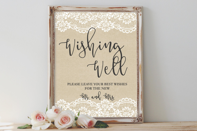rustic wishing well sign printable wishing well sign well
