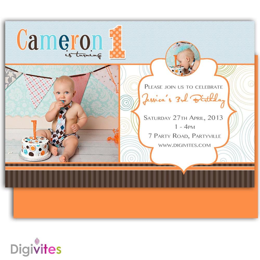 Baby Boy Invitation/1st Birthday boy invitation/Boy