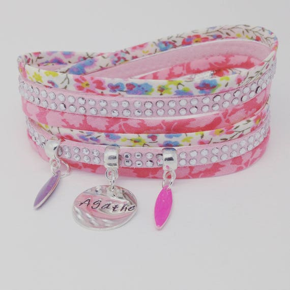 ★ Gift idea mothers day Personalized Bracelet multi strand with personalized engraving by Palilo LIBERTY ★