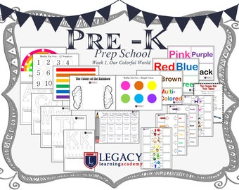Pre-K Lesson Plan, Homeschooling For Pre-K, Pre-K Lesson Plan Prep School