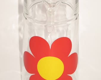 Vintage 70s glass jug for juice