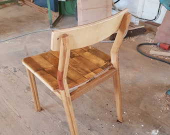 recycled oak chair