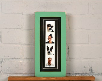 """4x10"""" Picture Frame for PHOTO BOOTH STRIP in 1x1 Flat Style and Color of Your Choice - 2x8 Photo Frame - Photo Booth Frame - Wedding Frames"""