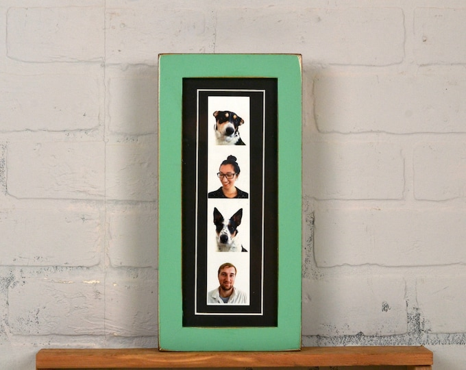 "4x10"" Picture Frame for PHOTO BOOTH STRIP in 1x1 Flat Style and Color of Your Choice - 2x8 Photo Frame - Photo Booth Frame - Wedding Frames"