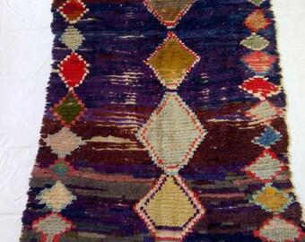 Vintage moroccan rug 192-108 cm