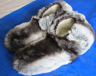 Badger Stripe Slipper Unisex Plush Slipper Made to Measure Gift for Dads Made to Order Dads Day Present Gift for Moms Fathers Day Present.