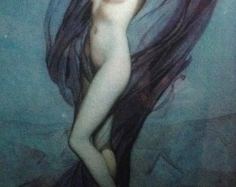 Alberto VARGAS The BLUE NUDE 1930 Nude Art Deco Pin-Up Rare limited edition from Original Painting Ziegfeld Follies, Equire, Playboy Pinup