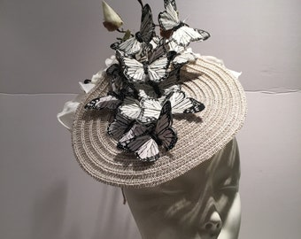 Butterfly Fascinator- Tea Party Hat- Derby Day- Mad Hatter- Wedding fascinators- Derby Hat- Vinatge style- Horse race fashion -Royal wedding