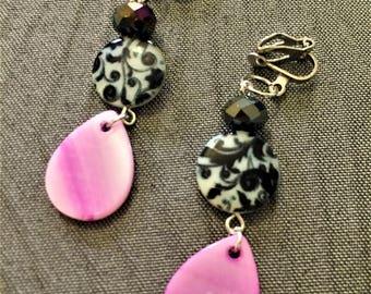 Clip On earrings, Clip On statement earrings, drag queens earrings, item 936 by CraftyLittleMonkeyGB