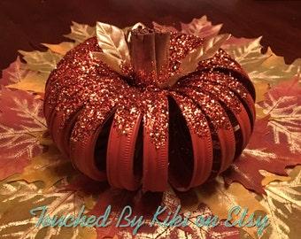 Rustic Pumpkin, Fall Decor, Thanksgiving Decor, Rustic Fall Decor, Mason Jar Lids, Farmhouse, Autumn Decor, Fall Wedding Reception