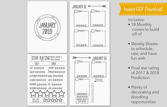 planner template 2018