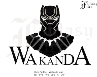 Instant DOWNLOAD. Wakanda, Black Panther. Vector, svg/png/jpg/eps/ai/dxf.