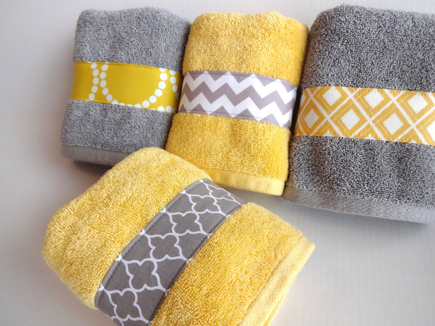 yellow bathroom accessories.  zoom Yellow and Grey Bath Towels yellow grey gray