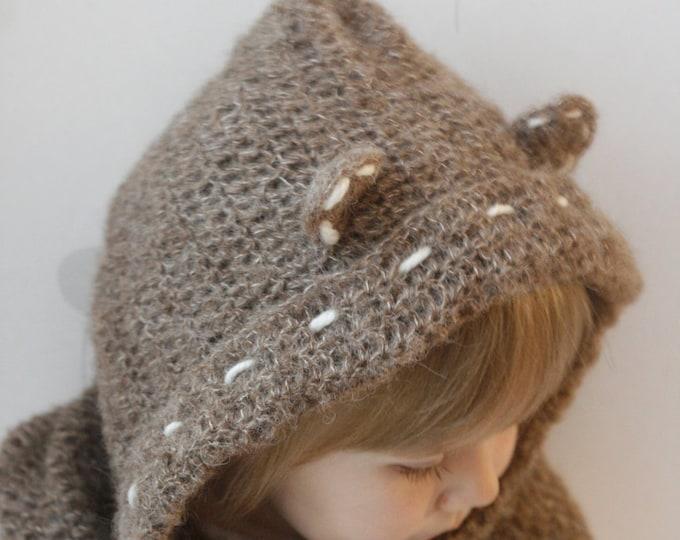 CROCHET PATTERN teddy bear hooded cowl Tom (baby/toddler/child/adult sizes)