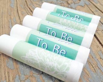 25 Mint To Be Lip Balm - Mint Lip Balm - Bridal Shower Favors, Wedding Favors, Mint To Be Favors