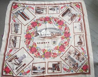 Mid Century Linen Australian Tablecloth - Heil - Made In Poland