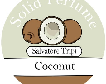 COCONUT Handmade Solid Perfume 10g by Salvatore Tripi - Italian Recipe