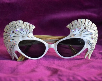 RARE** 1950s French Butterfly Wings Sunglasses