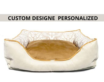 Dog Bed choose your colors/free embroidery name/cat bed