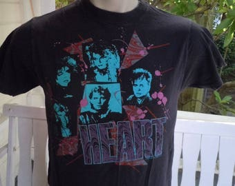 Size M (41) ** 1985 Heart Concert Shirt (Double Sided)