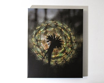 Dandelion Print, Dandelion Canvas, Dandelion Photo, Home Decor, Floral Art, Dandelion Photo Wall Decor, Wall Art, Prism Art, Rainbow Art
