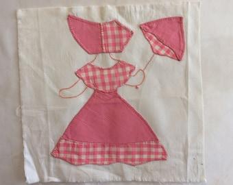Vintage Southern Belle Quilt Block