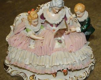 Irish Dresden Figurine 'Story Time'