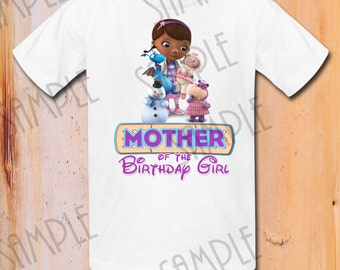 T-shirt Disney Doc Mcstuffins Iron On Transfer Printable Mother of Birthday Girl digital download Personalized Doc Mcstuffins party shirt