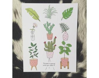 Botanical House Plant Print