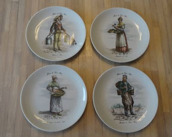 Ceramic set of 4 plates