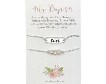 LDS Baptism gift, Faith Bracelet, LDS baptismal preview gifts, Its great to be eight, LDS primary gifts, girls adjustable faith bracelet,