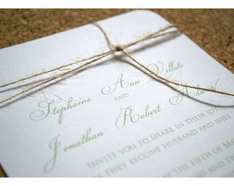 Sample Wedding Invitation Simple and Elegant Knot