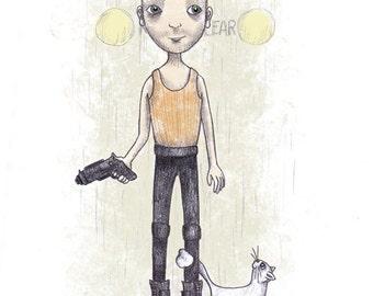 Korben Dallas - The Fifth Element - 8 1/2 x 11 Illustration Print
