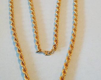 Vintage Monet goldtone chain necklace, Monet chain necklace, monet, vintage monet, Monet