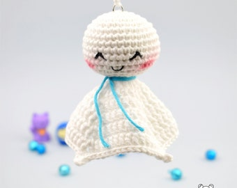 Teru teru bozu, muñeco friki, amigurumi kawaii, teru teru, amigurumi friki, folclore japonés, muñecas japonesas, muñeco amigurumi